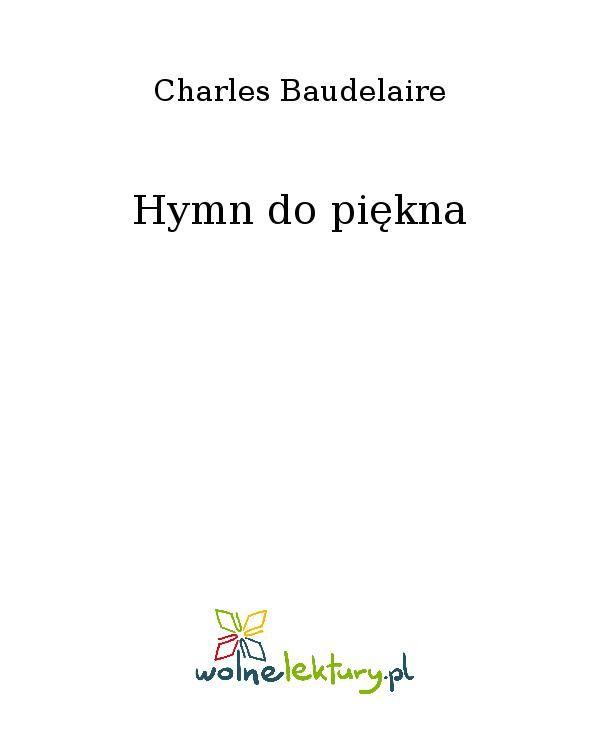 Hymn do piękna - Ebook (Książka EPUB) do pobrania w formacie EPUB