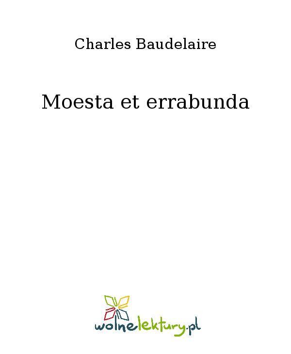 Moesta et errabunda - Ebook (Książka EPUB) do pobrania w formacie EPUB