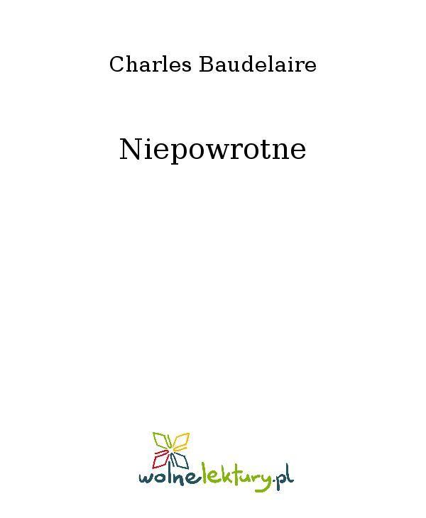 Niepowrotne - Ebook (Książka EPUB) do pobrania w formacie EPUB