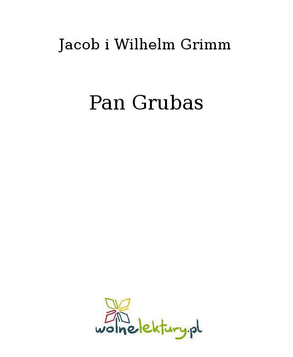 Pan Grubas - Ebook (Książka EPUB) do pobrania w formacie EPUB