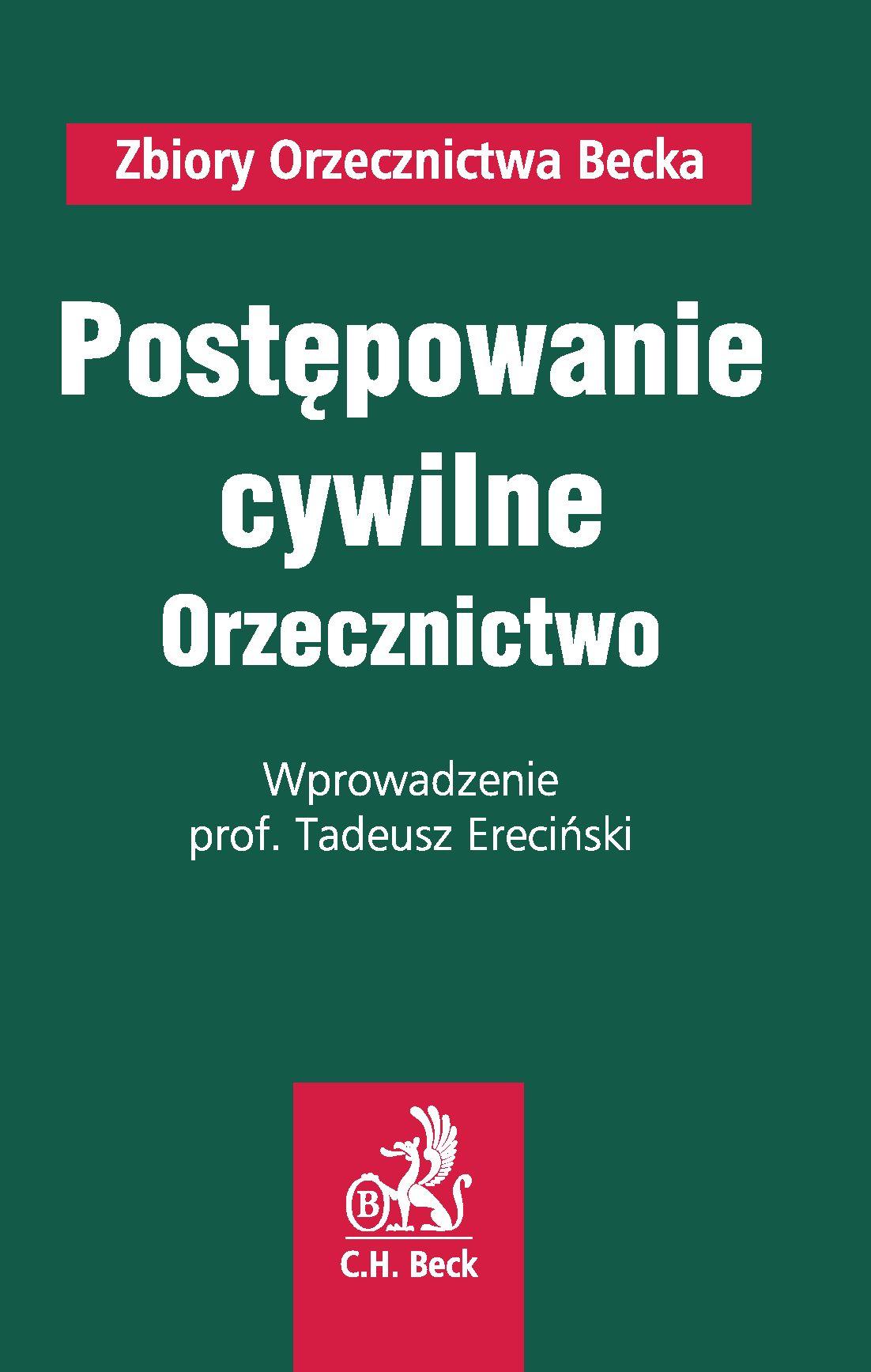 Postępowanie cywilne. Orzecznictwo - Ebook (Książka PDF) do pobrania w formacie PDF