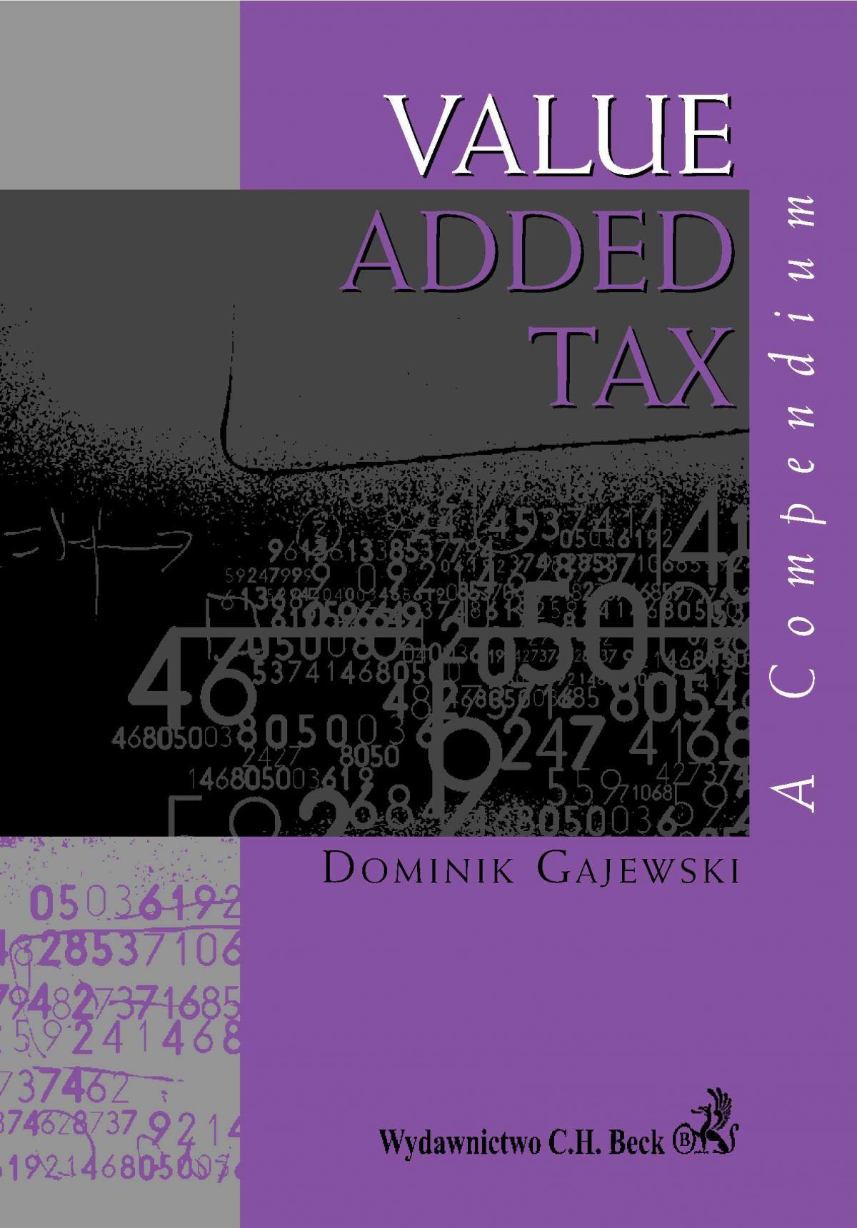 Value Added Tax. A compendium - Ebook (Książka PDF) do pobrania w formacie PDF