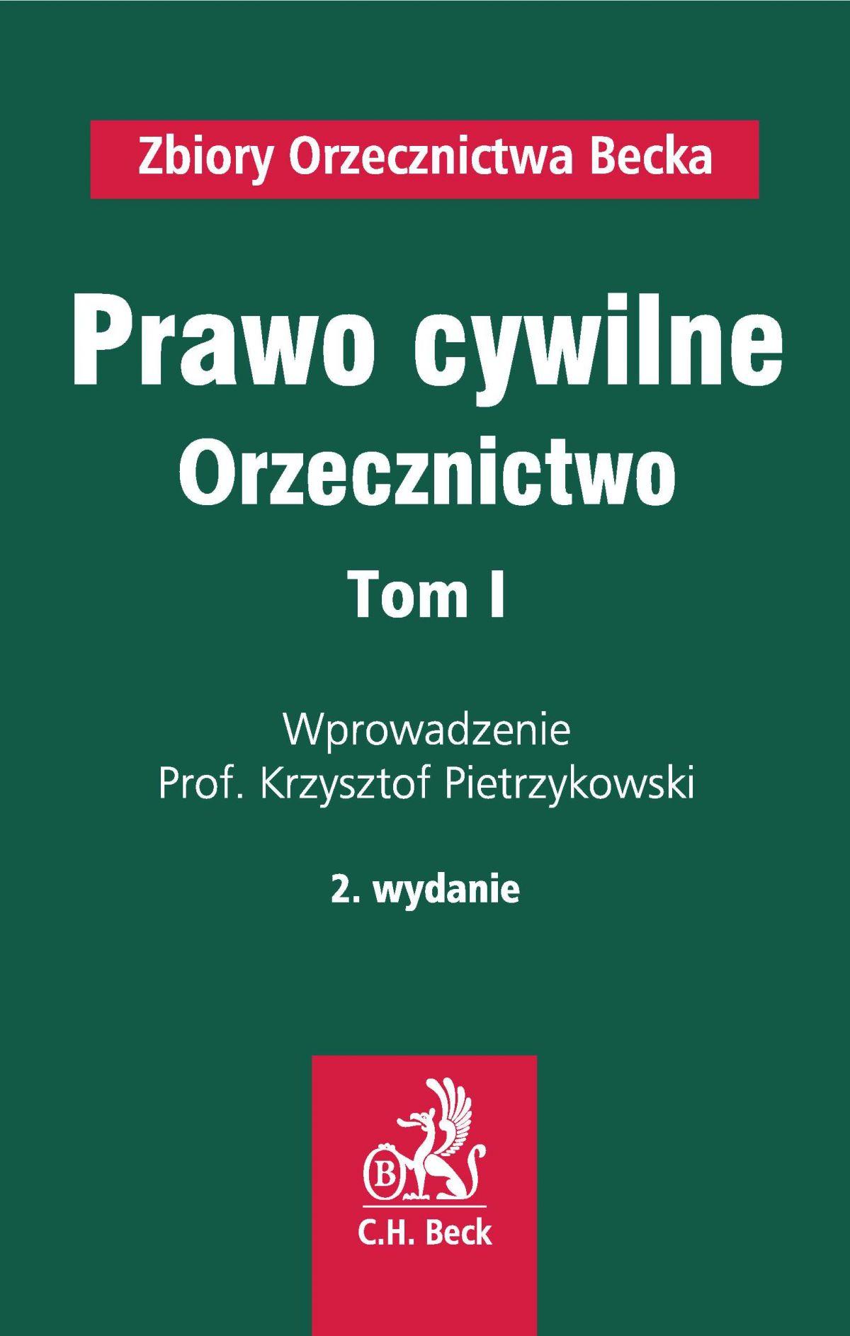 Prawo cywilne. Orzecznictwo. Tom I - Ebook (Książka PDF) do pobrania w formacie PDF