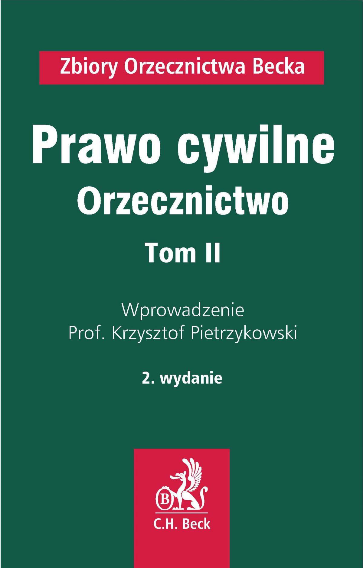 Prawo cywilne. Orzecznictwo. Tom II - Ebook (Książka PDF) do pobrania w formacie PDF