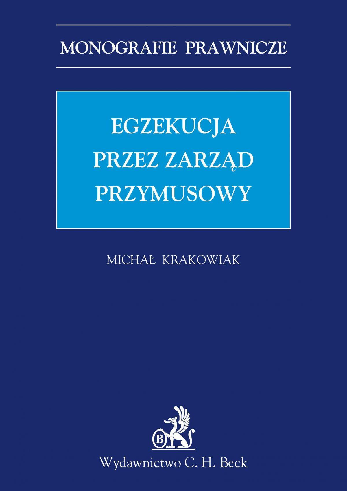 Egzekucja przez zarząd przymusowy - Ebook (Książka PDF) do pobrania w formacie PDF
