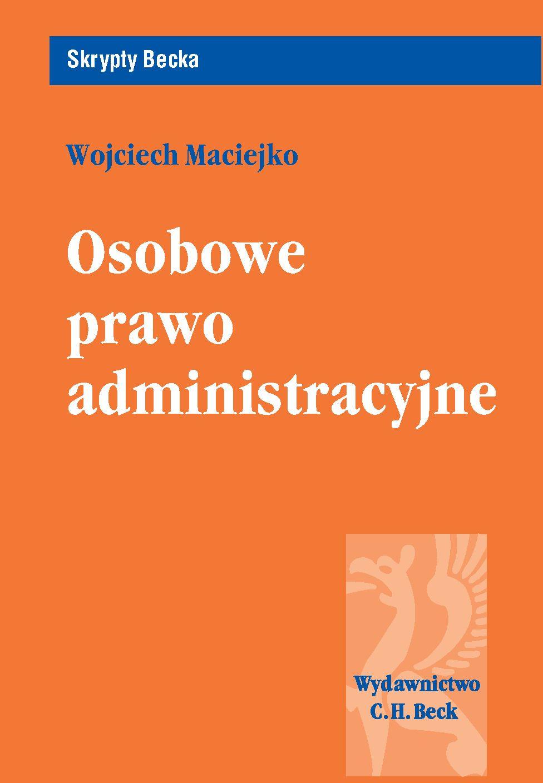 Osobowe prawo administracyjne - Ebook (Książka PDF) do pobrania w formacie PDF
