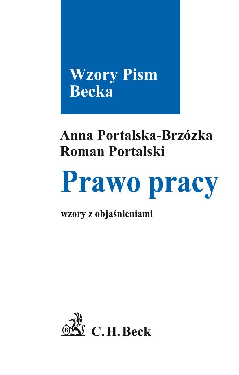 Prawo pracy Wzory z objaśnieniami - Ebook (Książka PDF) do pobrania w formacie PDF