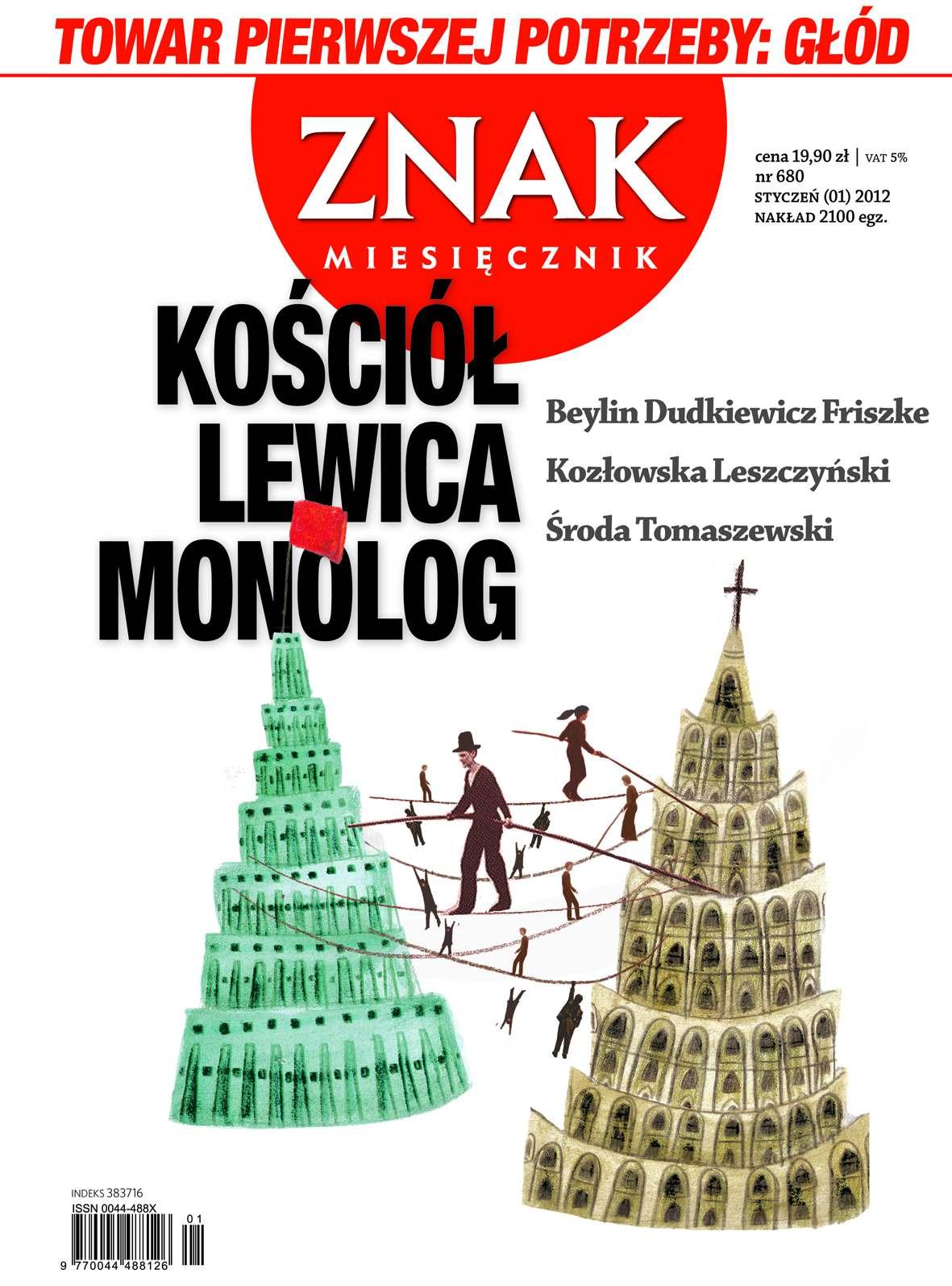 Miesięcznik Znak. Styczeń 2012 - Ebook (Książka PDF) do pobrania w formacie PDF