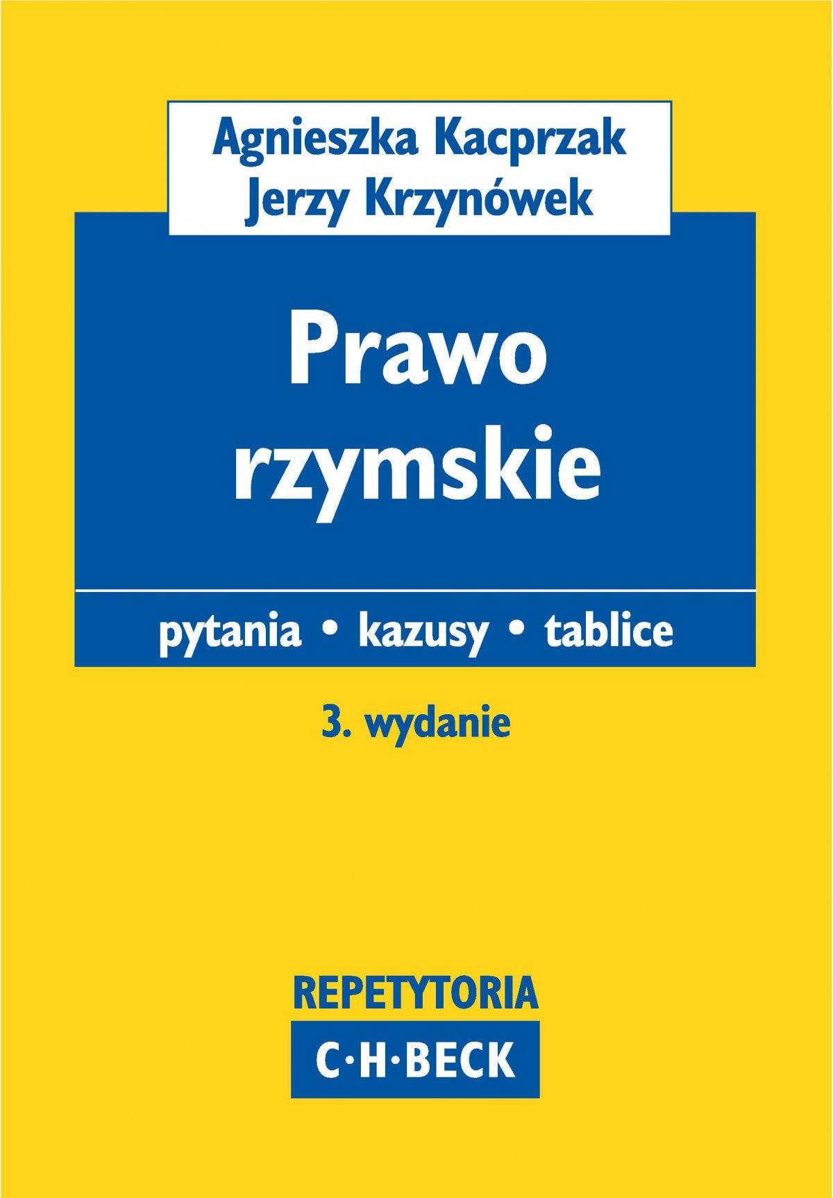 Prawo rzymskie Pytania. Kazusy. Tablice - Ebook (Książka PDF) do pobrania w formacie PDF