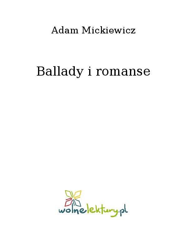 Ballady i romanse - Ebook (Książka na Kindle) do pobrania w formacie MOBI