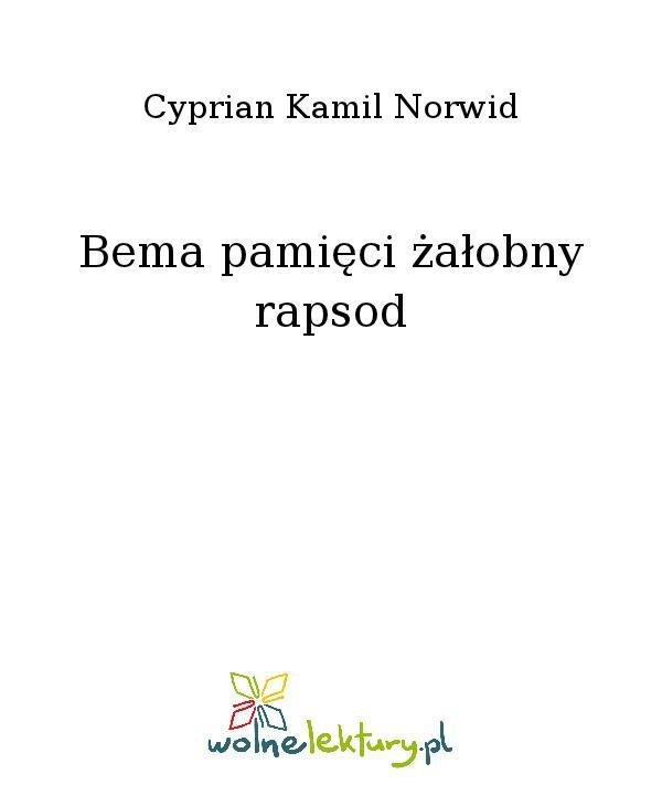 Bema pamięci żałobny rapsod - Ebook (Książka na Kindle) do pobrania w formacie MOBI