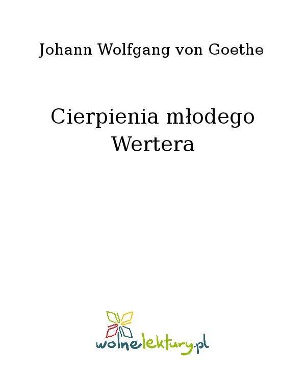 Cierpienia młodego Wertera - Ebook (Książka na Kindle) do pobrania w formacie MOBI