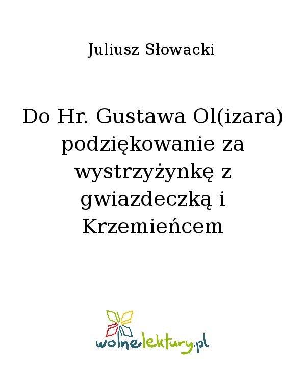 Do Hr. Gustawa Ol(izara) podziękowanie za wystrzyżynkę z gwiazdeczką i Krzemieńcem - Ebook (Książka na Kindle) do pobrania w formacie MOBI
