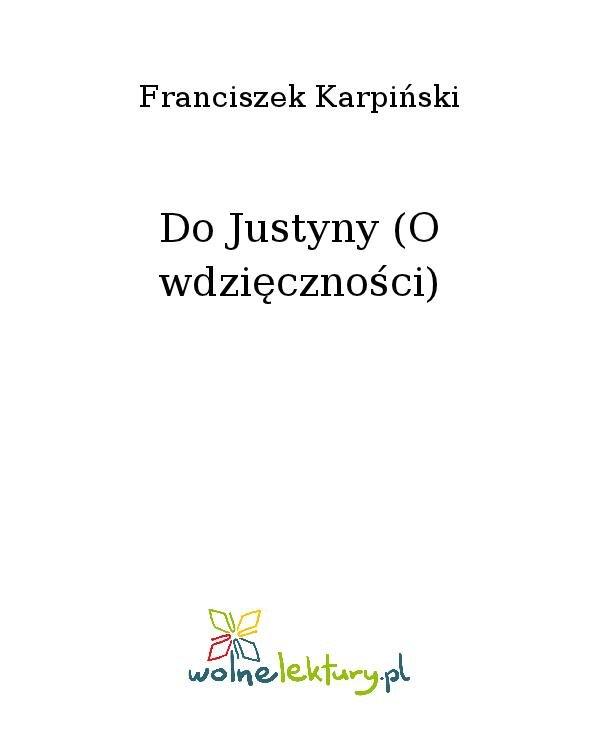Do Justyny (O wdzięczności) - Ebook (Książka na Kindle) do pobrania w formacie MOBI