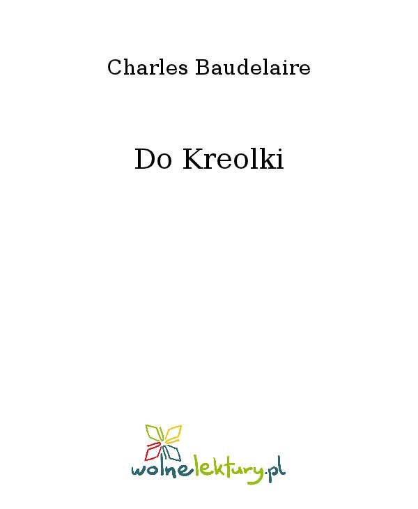 Do Kreolki - Ebook (Książka na Kindle) do pobrania w formacie MOBI