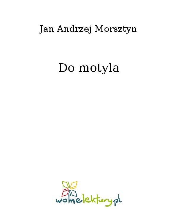 Do motyla - Ebook (Książka na Kindle) do pobrania w formacie MOBI