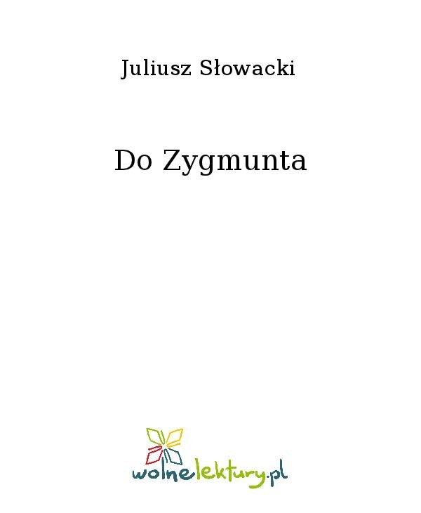 Do Zygmunta - Ebook (Książka na Kindle) do pobrania w formacie MOBI