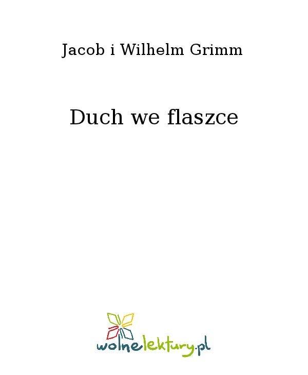 Duch we flaszce - Ebook (Książka na Kindle) do pobrania w formacie MOBI