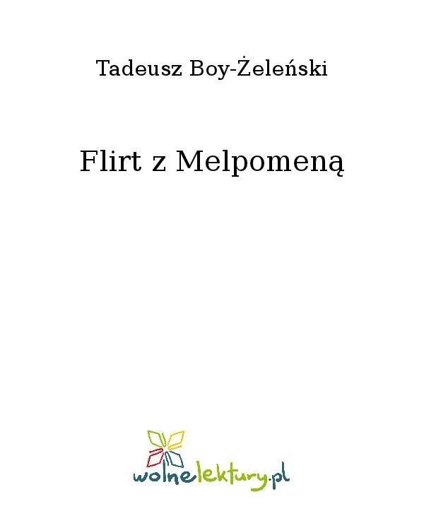 Flirt z Melpomeną - Ebook (Książka na Kindle) do pobrania w formacie MOBI