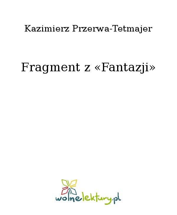Fragment z «Fantazji» - Ebook (Książka na Kindle) do pobrania w formacie MOBI