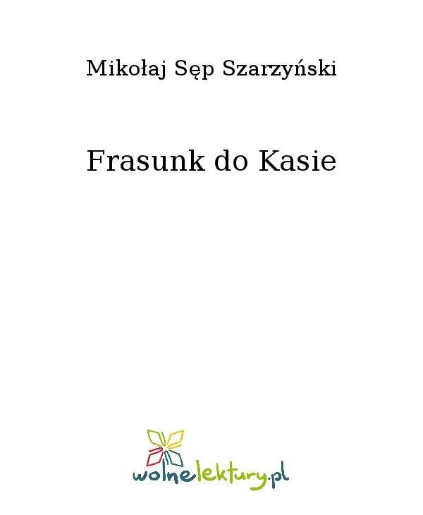 Frasunk do Kasie - Ebook (Książka na Kindle) do pobrania w formacie MOBI