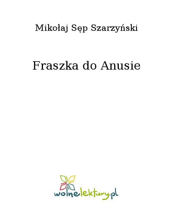 Fraszka do Anusie - Ebook (Książka na Kindle) do pobrania w formacie MOBI