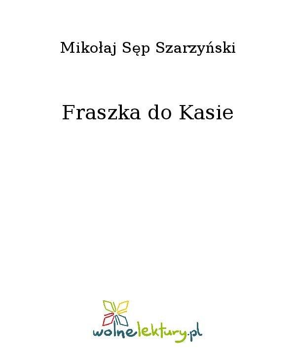 Fraszka do Kasie - Ebook (Książka na Kindle) do pobrania w formacie MOBI