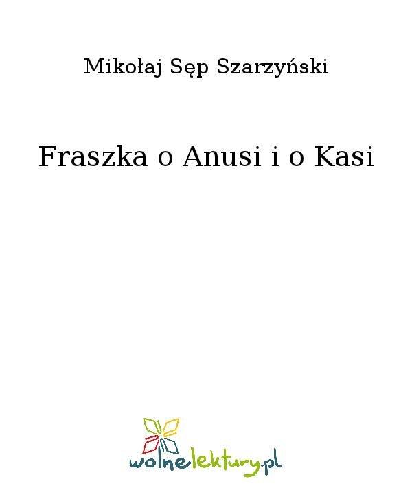 Fraszka o Anusi i o Kasi - Ebook (Książka na Kindle) do pobrania w formacie MOBI