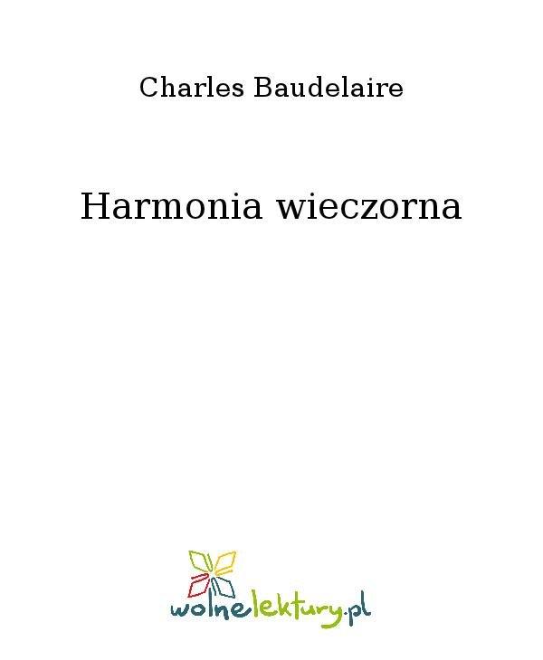 Harmonia wieczorna - Ebook (Książka na Kindle) do pobrania w formacie MOBI
