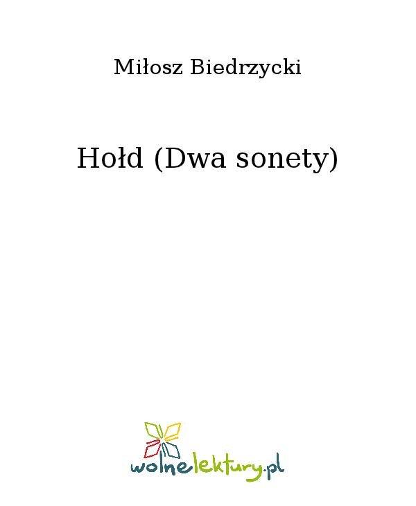 Hołd (Dwa sonety) - Ebook (Książka na Kindle) do pobrania w formacie MOBI