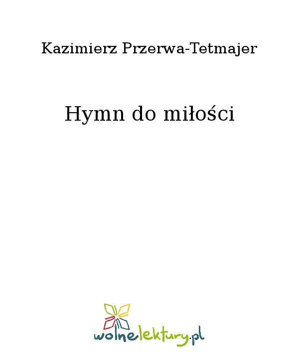 Hymn do miłości - Ebook (Książka na Kindle) do pobrania w formacie MOBI