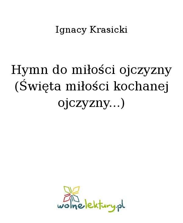 Hymn do miłości ojczyzny (Święta miłości kochanej ojczyzny...) - Ebook (Książka na Kindle) do pobrania w formacie MOBI