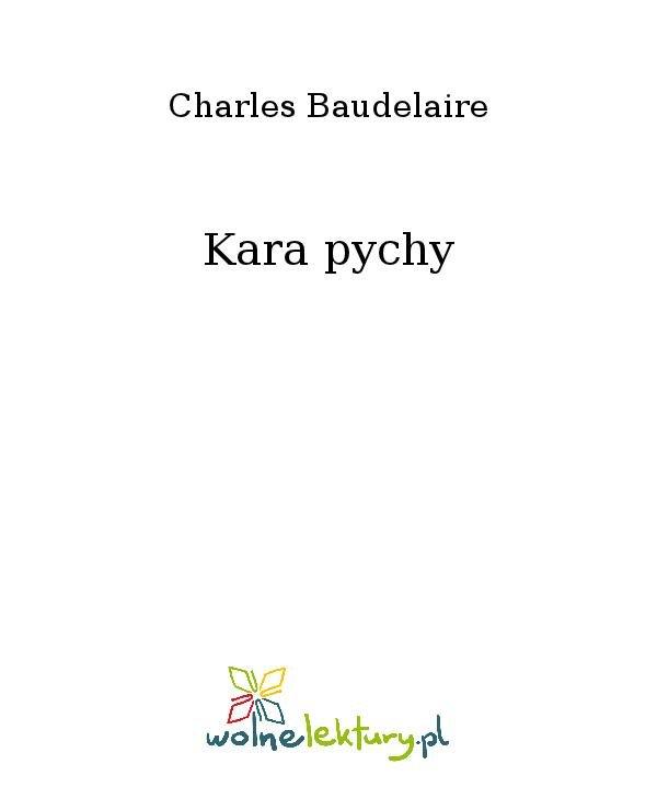 Kara pychy - Ebook (Książka na Kindle) do pobrania w formacie MOBI