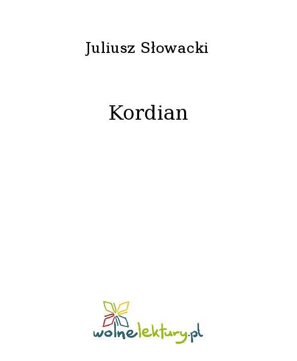 Kordian - Ebook (Książka na Kindle) do pobrania w formacie MOBI