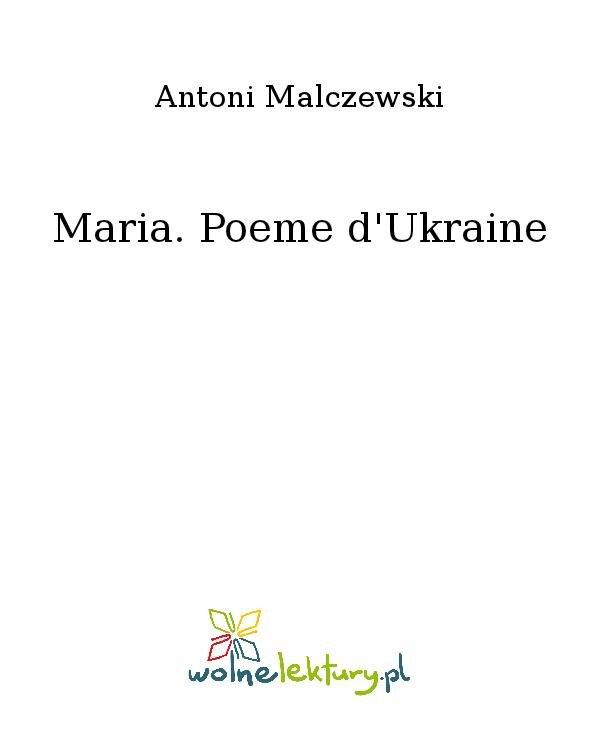Maria. Poeme d'Ukraine - Ebook (Książka na Kindle) do pobrania w formacie MOBI