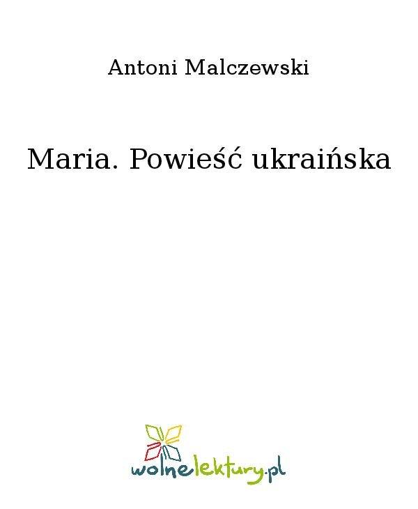 Maria. Powieść ukraińska - Ebook (Książka na Kindle) do pobrania w formacie MOBI