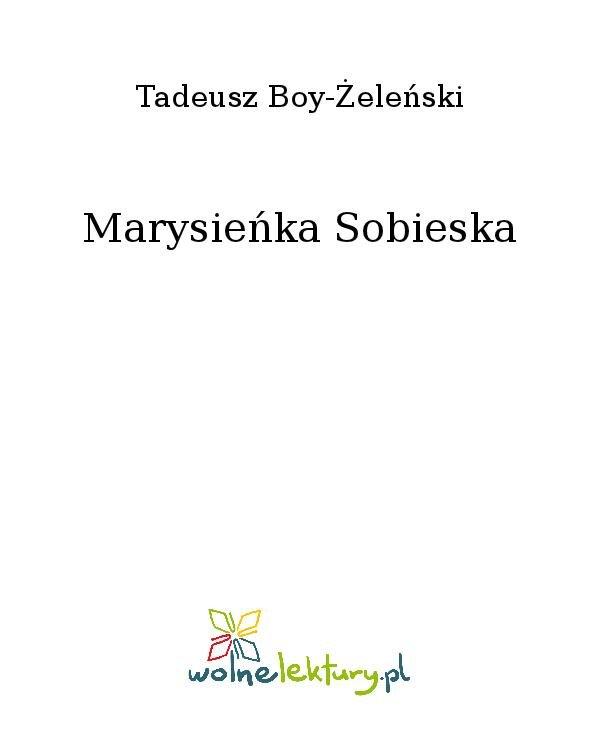 Marysieńka Sobieska - Ebook (Książka na Kindle) do pobrania w formacie MOBI