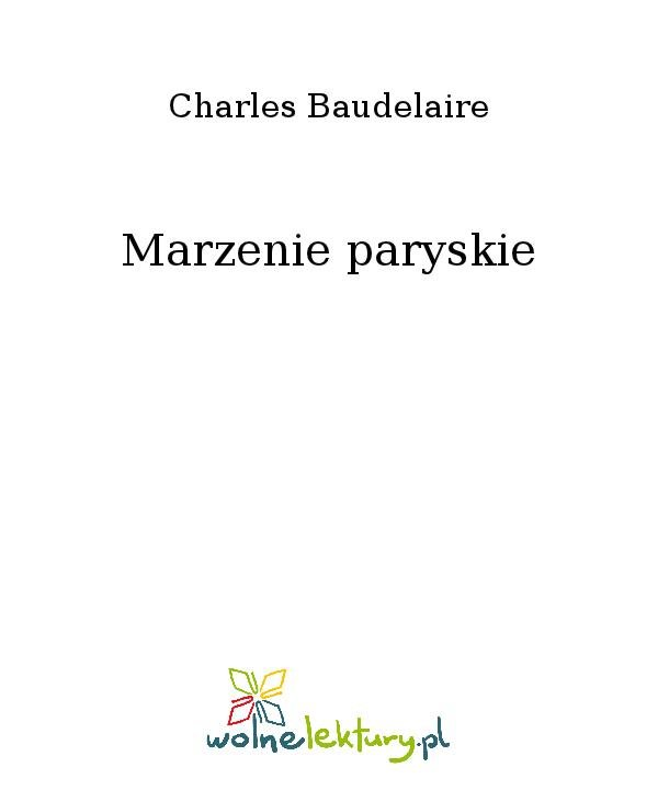 Marzenie paryskie - Ebook (Książka na Kindle) do pobrania w formacie MOBI