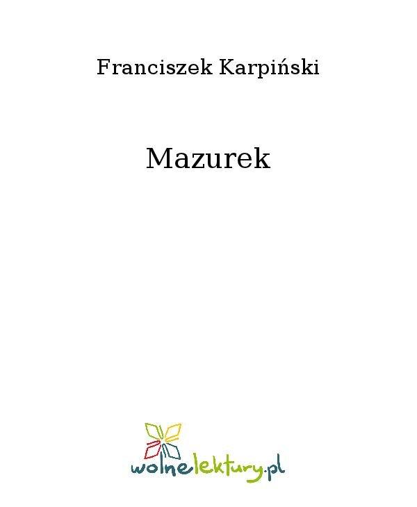 Mazurek - Ebook (Książka na Kindle) do pobrania w formacie MOBI