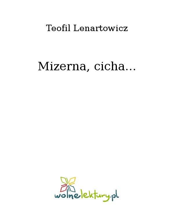 Mizerna, cicha... - Ebook (Książka na Kindle) do pobrania w formacie MOBI