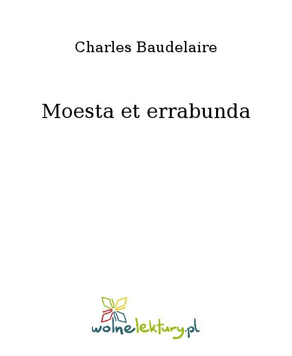 Moesta et errabunda - Ebook (Książka na Kindle) do pobrania w formacie MOBI