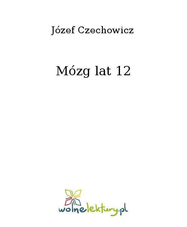 Mózg lat 12 - Ebook (Książka na Kindle) do pobrania w formacie MOBI