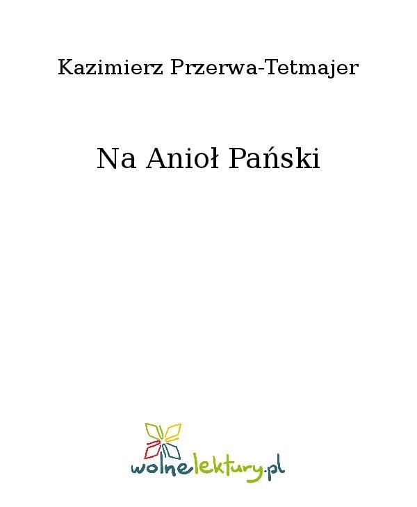 Na Anioł Pański - Ebook (Książka na Kindle) do pobrania w formacie MOBI