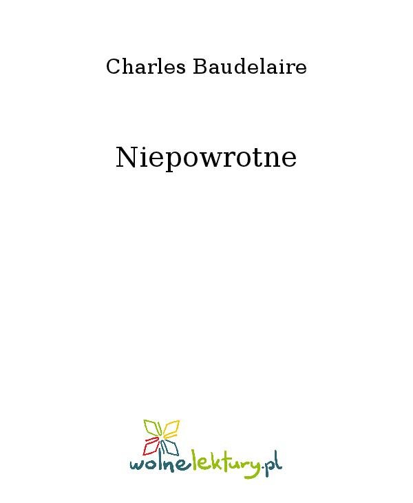 Niepowrotne - Ebook (Książka na Kindle) do pobrania w formacie MOBI