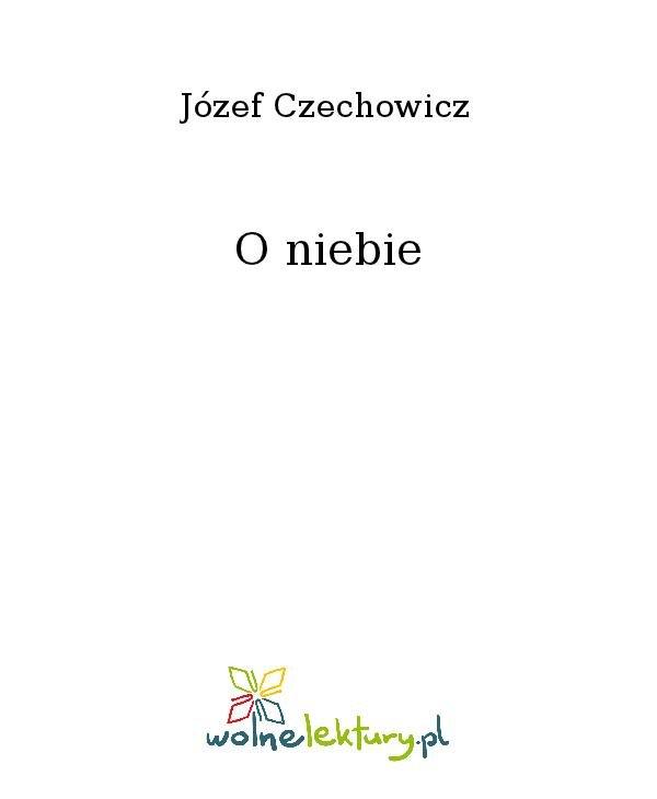 O niebie - Ebook (Książka na Kindle) do pobrania w formacie MOBI