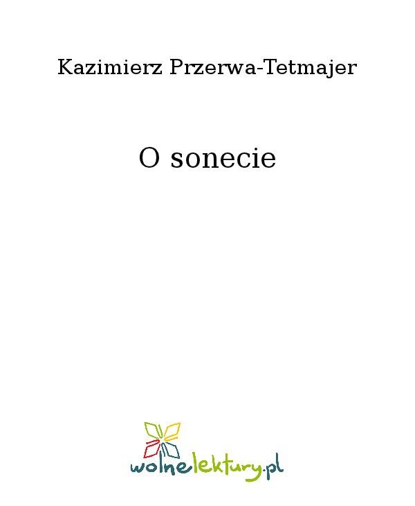 O sonecie - Ebook (Książka na Kindle) do pobrania w formacie MOBI