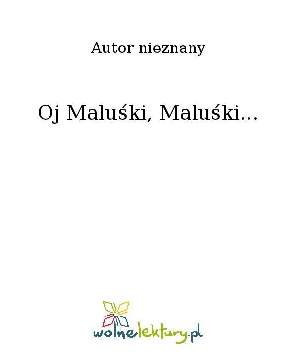 Oj Maluśki, Maluśki... - Ebook (Książka na Kindle) do pobrania w formacie MOBI
