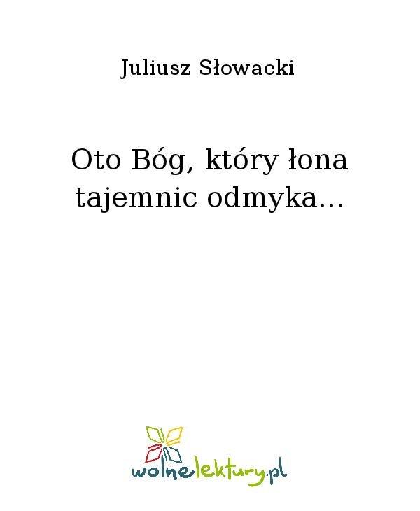 Oto Bóg, który łona tajemnic odmyka... - Ebook (Książka na Kindle) do pobrania w formacie MOBI