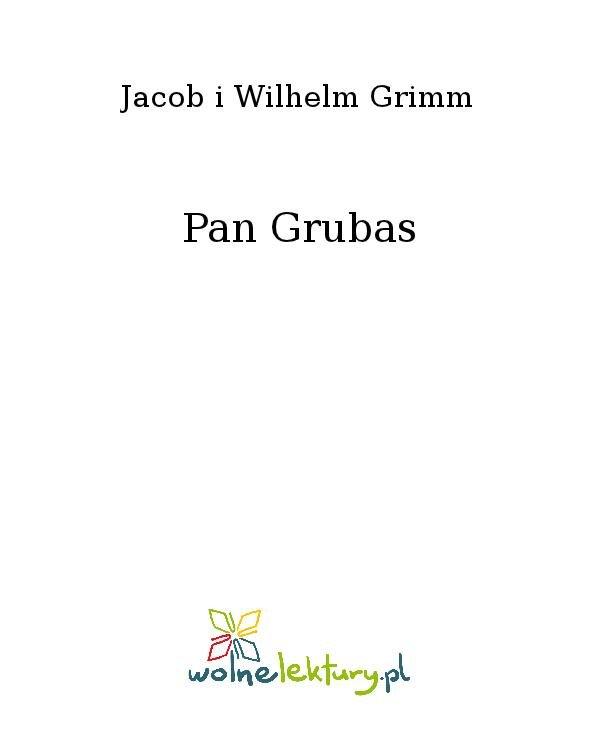 Pan Grubas - Ebook (Książka na Kindle) do pobrania w formacie MOBI