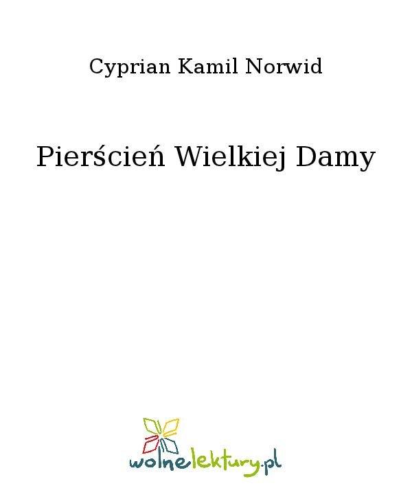 Pierścień Wielkiej Damy - Ebook (Książka na Kindle) do pobrania w formacie MOBI